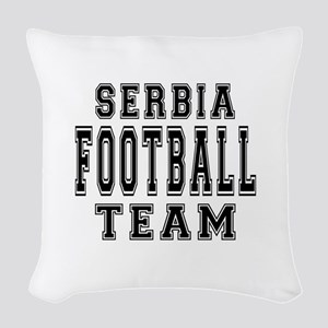 Serbia Football Team Woven Throw Pillow