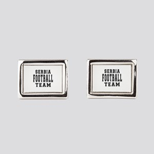 Serbia Football Team Rectangular Cufflinks