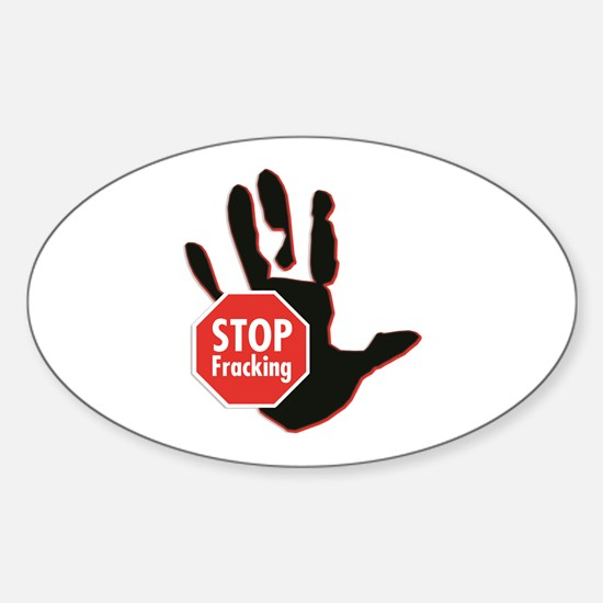 Stop Fracking Hand Decal