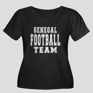 Senegal Women's Plus Size Scoop Neck Dark T-Shirt