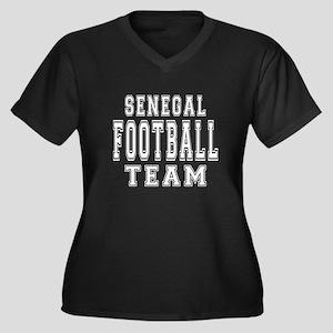 Senegal Foot Women's Plus Size V-Neck Dark T-Shirt