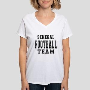 Senegal Football Team Women's V-Neck T-Shirt