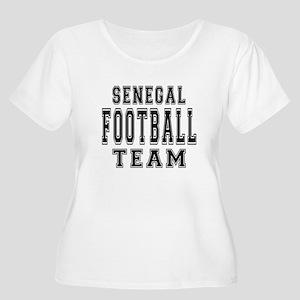 Senegal Footb Women's Plus Size Scoop Neck T-Shirt