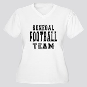 Senegal Football Women's Plus Size V-Neck T-Shirt