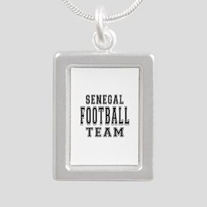 Senegal Football Team Silver Portrait Necklace