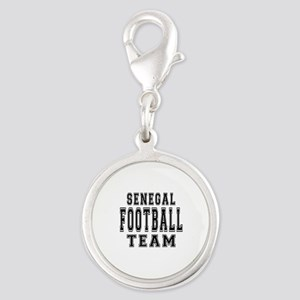 Senegal Football Team Silver Round Charm
