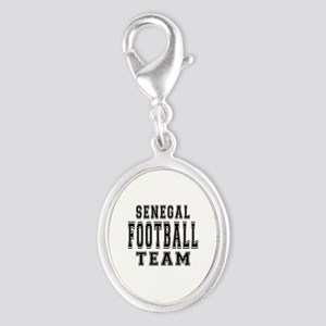 Senegal Football Team Silver Oval Charm