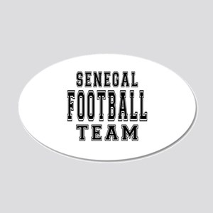 Senegal Football Team 20x12 Oval Wall Decal