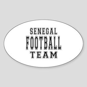 Senegal Football Team Sticker (Oval)