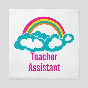 Teacher's Assistant Cloud Rainbow Queen Duvet