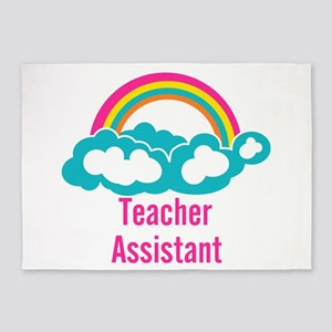 Teacher's Assistant Cloud Rainbow 5'x7'Area Rug