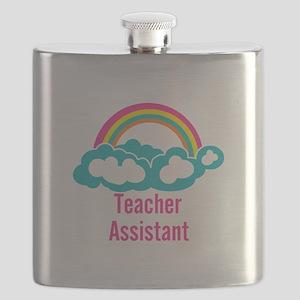 Teacher's Assistant Cloud Rainbow Flask
