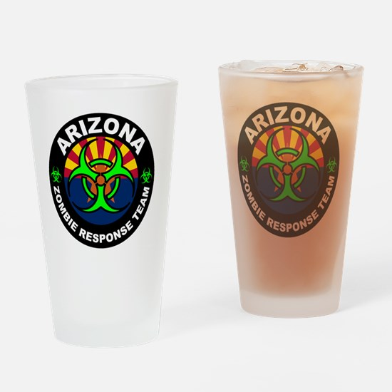 Arizona Zombie Response Team Green Drinking Glass