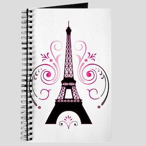 Eiffel Tower Gradient Swirl Journal