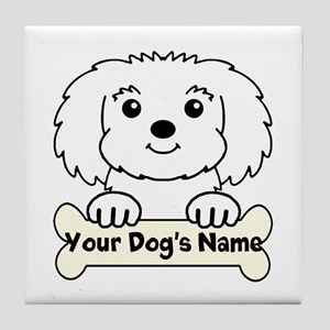 Personalized Maltese Tile Coaster