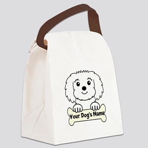 Personalized Maltese Canvas Lunch Bag