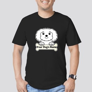 Personalized Maltese Men's Fitted T-Shirt (dark)