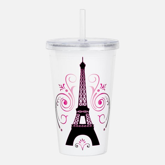 Eiffel Tower Gradient Acrylic Double-Wall Tumbler