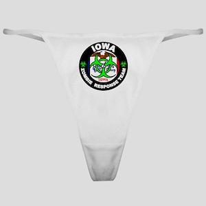 Iowa Zombie Response Team Green Classic Thong