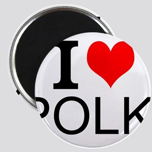I Love Polka Magnets
