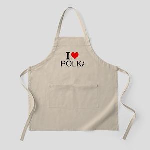 I Love Polka Apron