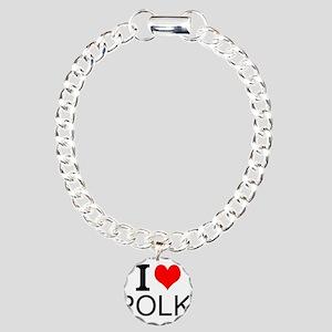 I Love Polka Bracelet