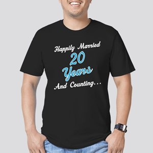 20 Year anniversary Men's Fitted T-Shirt (dark)