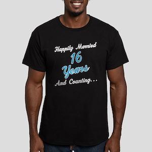 16 Year anniversary Men's Fitted T-Shirt (dark)