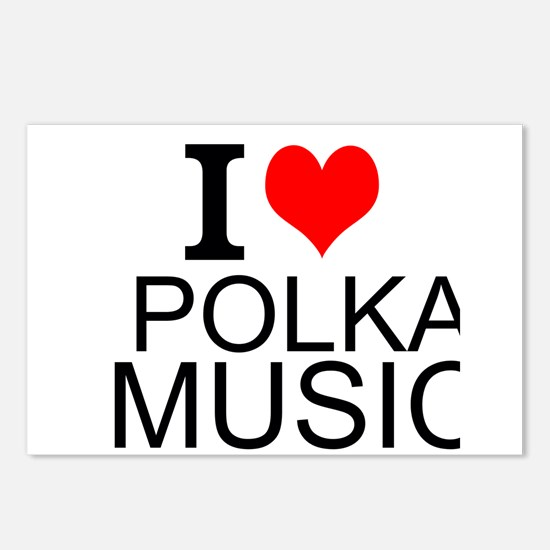 I Love Polka Music Postcards (Package of 8)