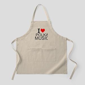 I Love Polka Music Apron