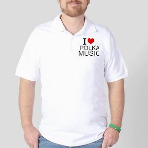 I Love Polka Music Golf Shirt
