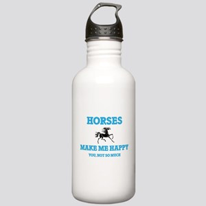 Horses Make Me Happy Stainless Water Bottle 1.0L