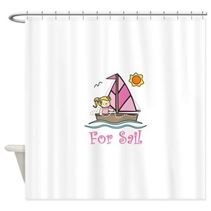 Sailboat Girl Shower Curtains