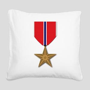 Bronze Star Square Canvas Pillow