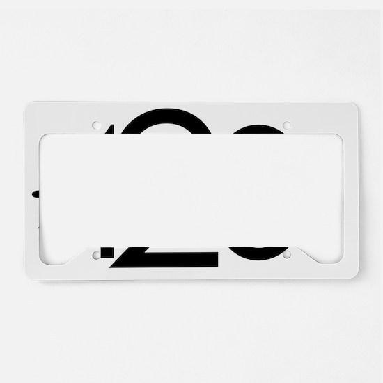 420 Black License Plate Holder