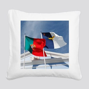 Portugal and Azores Square Canvas Pillow