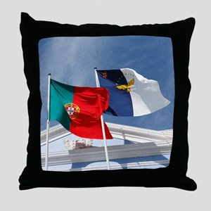 Portugal and Azores Throw Pillow