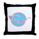 Retro Glasses Design Throw Pillow