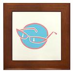 Retro Glasses Design Framed Tile