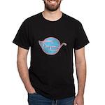 Retro Glasses Design Dark T-Shirt