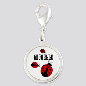 Cute Red | Black Ladybugs Name Charms