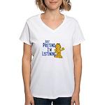 Just Pretend Women's V-Neck T-Shirt