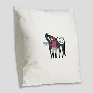 I Need Horse Time - appaloosa Burlap Throw Pillow