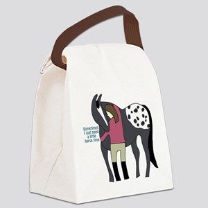 I Need Horse Time - appaloosa Canvas Lunch Bag