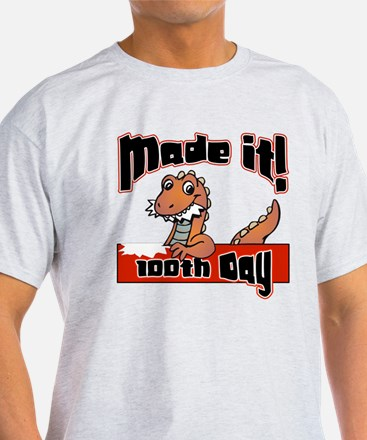 100th Day Dinosaur Made It T-Shirt