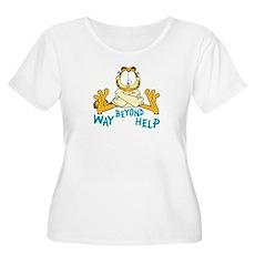Beyond Help Garfield Women's Plus Size Scoop Neck