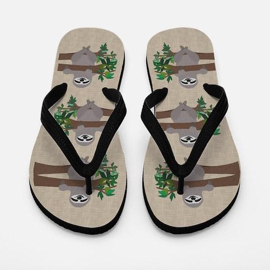 Sloth Flip Flops