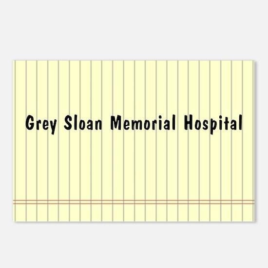 GREY SLOAN MEMORIAL HOSPI Postcards (Package of 8)
