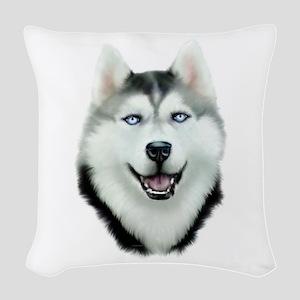 Siberian Husky Woven Throw Pillow