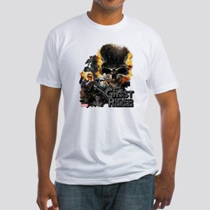 Ghost Rider Skull Fitted T-Shirt